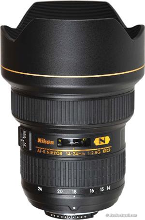 עדשת ניקון   NIKON AF-S 14-24mm f/2.8G ED