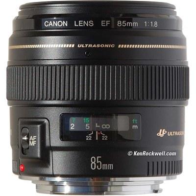 עדשה קבועה קנון Canon EF 85mm f/1.8 USM