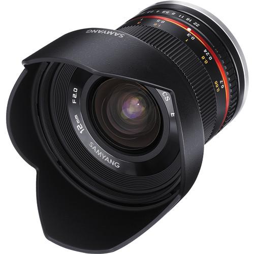 עדשה סאמיאנג   Samyang 12mm f/2.0 NCS CS Lens for Sony E-Mount -APS-C