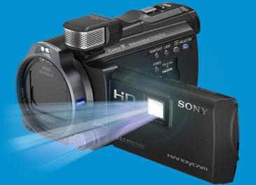 Sonyמצלמת וידיאו  96GB HDR-PJ790E HD Handycam with Projector 5+סוללה רזרבית