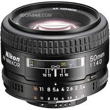 עדשה ניקון Nikon AF Nikkor 50mm f/1.4D