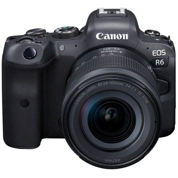 מבצע מצלמת קנון   Canon EOS R6 כולל עדשה קנון 24-105 F4-7.1