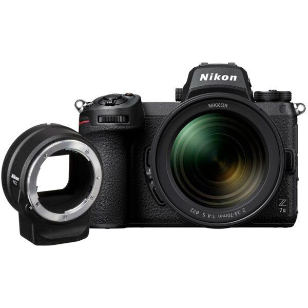 מצלמה Nikon Z7 II ניקון[גוף בלבד]  ומתאם FTZ