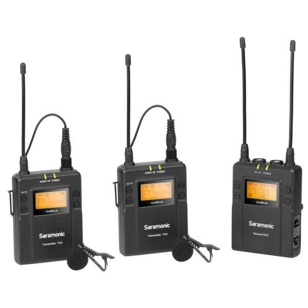 מקרופון זוגי  Saramonic  Microphone  2x TX9   RX9  Receiver